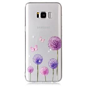 voordelige Galaxy S7 Edge Hoesjes / covers-hoesje Voor Samsung Galaxy S8 Plus / S8 / S7 edge Transparant / Patroon Achterkant Vlinder / Paardebloem Zacht TPU
