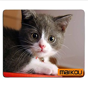 cheap Mouse Pad-Maikou Mouse Pad Cat Wears Eyeglasses PC Mat Computer Supply Accessory