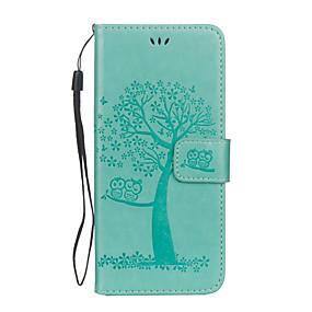halpa Galaxy S -sarjan kotelot / kuoret-Etui Käyttötarkoitus Samsung Galaxy S8 Plus / S8 Lomapkko / Korttikotelo / Tuella Suojakuori Pöllö / Puu Kova PU-nahka varten S8 Plus / S8 / S7 edge