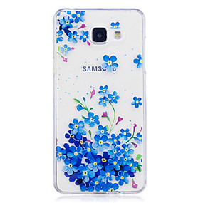 voordelige Galaxy A3(2016) Hoesjes / covers-hoesje Voor Samsung Galaxy A3 (2017) / A5 (2017) / A5(2016) IMD / Transparant / Patroon Achterkant Bloem Zacht TPU