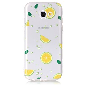 voordelige Galaxy A3(2016) Hoesjes / covers-hoesje Voor Samsung Galaxy A3 (2017) / A5 (2017) / A5(2016) Transparant / Patroon Achterkant Fruit Zacht TPU