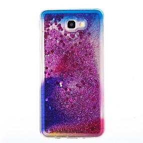 voordelige Galaxy J3 Hoesjes / covers-hoesje Voor Samsung Galaxy J7 Prime / J7 (2017) / J7 (2016) Stromende vloeistof Achterkant Glitterglans Zacht TPU