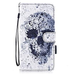 ราคาถูก เคสสำหรับ iPhone-Case สำหรับ Apple iPhone 7 / iPhone 7 Plus Wallet / Card Holder / with Stand ตัวกระเป๋าเต็ม กระโหลก Hard หนัง PU สำหรับ iPhone 7 Plus / iPhone 7 / iPhone 6s Plus