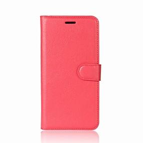 Недорогие Чехлы и кейсы для Galaxy A8-Кейс для Назначение SSamsung Galaxy A5(2018) / Galaxy A7(2018) / A3 (2017) Кошелек / Бумажник для карт / со стендом Чехол Однотонный Твердый Кожа PU