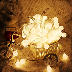preiswerte Partydeko-10m 100 leds kugelförmige lichterketten ac220v urlaub dekoration lampe festival weihnachtsbeleuchtung im freien beleuchtung