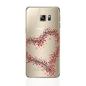 voordelige Galaxy S6 Edge Plus Hoesjes / covers-hoesje Voor Samsung Galaxy S8 Plus / S8 / S7 edge Transparant / Patroon Achterkant Hart Zacht TPU