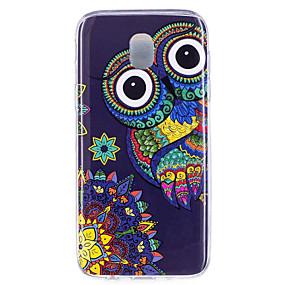 voordelige Galaxy J7(2017) Hoesjes / covers-hoesje Voor Samsung Galaxy J7 (2017) / J7 (2016) / J5 (2017) Glow in the dark / IMD / Patroon Achterkant Uil Zacht TPU