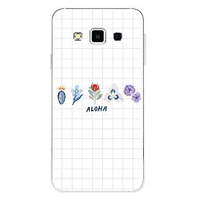 voordelige Galaxy A8 Hoesjes / covers-hoesje Voor Samsung Galaxy A3 (2017) / A5 (2017) / A7 (2017) Patroon Achterkant Geometrisch patroon / Bloem Zacht TPU