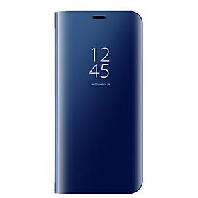 Недорогие Рекомендуемые-Кейс для Назначение SSamsung Galaxy S8 Plus / S8 со стендом / Зеркальная поверхность / Авто Режим сна / Пробуждение Чехол Однотонный Твердый Кожа PU для S8 Plus / S8 / S7 edge