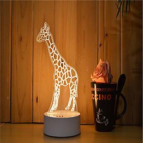 ieftine Lumini Nocturne LED-1set 3D Nightlight Intensitate Luminoasă Reglabilă / Lumină LED / Decorativ Artistic / LED / Modern / Contemporan