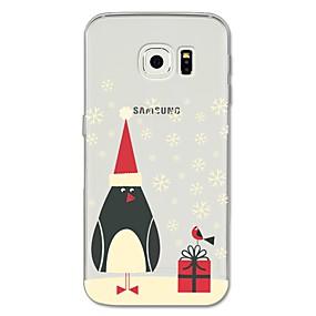 voordelige Galaxy S7 Edge Hoesjes / covers-hoesje Voor Samsung Galaxy S8 Plus / S8 / S7 edge Patroon Achterkant Cartoon / Kerstmis Zacht TPU