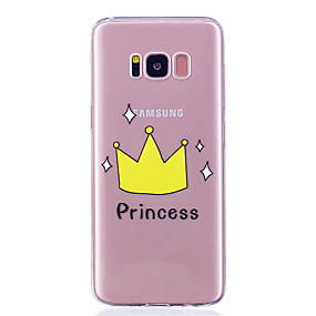 voordelige Galaxy S7 Edge Hoesjes / covers-hoesje Voor Samsung Galaxy S8 Plus / S8 / S7 edge Transparant / Patroon Achterkant Woord / tekst Zacht TPU