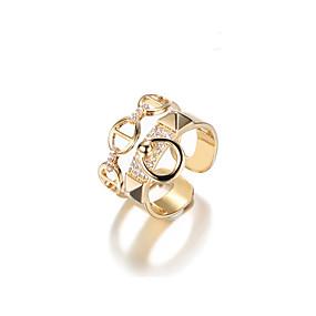 ieftine Alegerile Editorului-Pentru femei Geometric manşetă Ring Aliaj Corean Inele la Modă Bijuterii Auriu Pentru Cadou Zilnic Dată Ajustabil