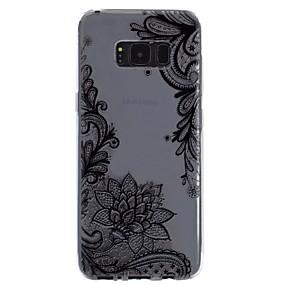 voordelige Galaxy S7 Hoesjes / covers-hoesje Voor Samsung Galaxy S8 Plus / S8 / S7 edge Transparant / Reliëfopdruk / Patroon Achterkant Lace Printing Zacht TPU