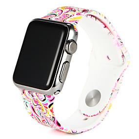 abordables Bracelets Apple Watch-Bracelet de Montre  pour Apple Watch Series 4/3/2/1 Apple Bracelet Sport Silikon Sangle de Poignet