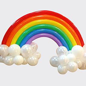 economico Decorazioni e forniture per feste-palloncino arcobaleno set festa di compleanno deco (20 palloncino lungo 16 palloncino rotondo)