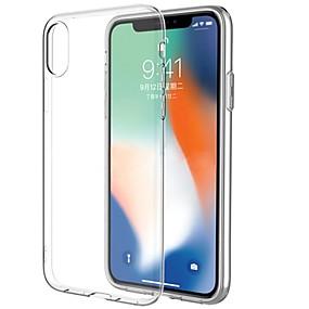 זול מגנים לאייפון-ASLING מגן עבור Apple / iPhone X iPhone X אולטרה דק / שקוף כיסוי אחורי שקוף רך TPU ל iPhone X