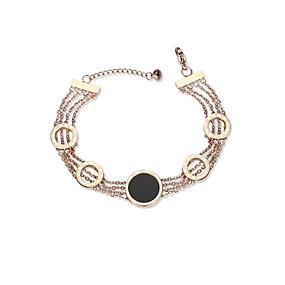 abordables Sélection de l'Editeur-Chaînes Bracelets Femme dames Européen Mode Bracelet Bijoux Or Rose Forme de Cercle pour Quotidien Rendez-vous