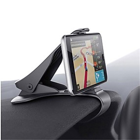 billige iPhone XS Max-Automotive Universell / Mobiltelefon Monter stativholder Kontrollbord Universell / Mobiltelefon Spenne Type Plast Holder