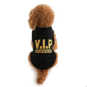 tanie Zwierzęta domowe, Zabawki i hobby-Psy T-shirt Ubrania dla psów Litery i cyfry Czarny Bawełna Kostium Na Zima