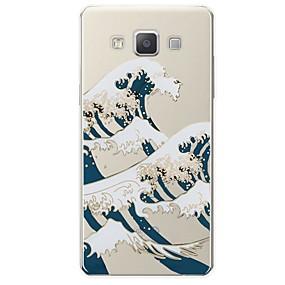 voordelige Galaxy A8 Hoesjes / covers-hoesje Voor Samsung Galaxy A3 (2017) / A5 (2017) / A7 (2017) Patroon Achterkant Lijnen / golven Zacht TPU