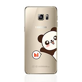 voordelige Galaxy S7 Hoesjes / covers-hoesje Voor Samsung Galaxy S8 Plus / S8 / S7 edge Patroon Achterkant Panda Zacht TPU