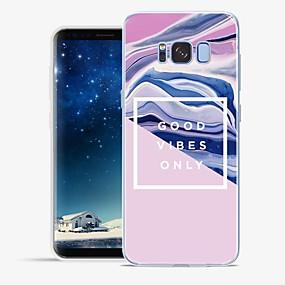 voordelige Galaxy S7 Edge Hoesjes / covers-hoesje Voor Samsung Galaxy S8 Plus / S8 / S7 edge Patroon Achterkant Lijnen / golven / Marmer Zacht TPU