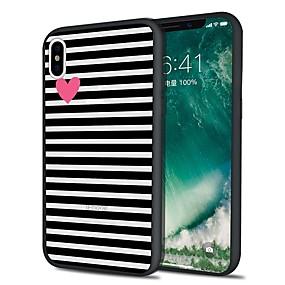 olcso iPhone tokok-Case Kompatibilitás Apple iPhone X / iPhone 8 Plus Minta Fekete tok Vonalak / hullámok Puha TPU mert iPhone XS / iPhone XR / iPhone XS Max
