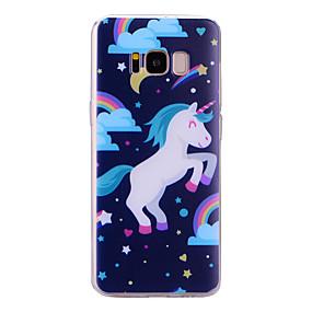 voordelige Galaxy S7 Hoesjes / covers-hoesje Voor Samsung Galaxy S8 Plus / S8 / S7 edge IMD / Patroon Achterkant Eenhoorn Zacht TPU