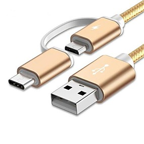 povoljno Google-USB 2.0 / Tip-C 1m-1.99m / 3ft-6ft Prijenosno / All-in-1 / High Speed Najlon USB kabelski adapter Za Samsung / Huawei / LG