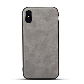levne iPhone pouzdra-Carcasă Pro Apple iPhone X / iPhone 8 Matné Zadní kryt Jednobarevné Pevné PU kůže pro iPhone X / iPhone 8 Plus / iPhone 8