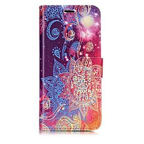 halpa Galaxy S -sarjan kotelot / kuoret-Etui Käyttötarkoitus Samsung Galaxy S8 Plus / S8 Lomapkko / Korttikotelo / Flip Suojakuori Mandala Kova PU-nahka varten S8 Plus / S8 / S7 edge