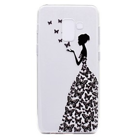 voordelige Galaxy A5(2016) Hoesjes / covers-hoesje Voor Samsung Galaxy A3 (2017) / A5 (2017) / A7 (2017) Transparant / Patroon Achterkant Sexy dame Zacht TPU
