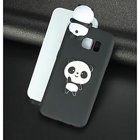 billige Etuier / covers til Galaxy S-modellerne-Etui Til Samsung Galaxy S8 Plus / S8 Mønster / GDS Bagcover 3D-tegneseriefigur / Panda Blødt TPU for S8 Plus / S8 / S7 edge