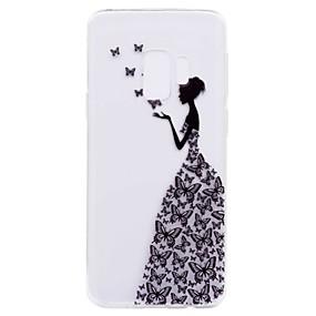 Недорогие Чехлы и кейсы для Galaxy S5 Mini-Кейс для Назначение SSamsung Galaxy S9 / S9 Plus / S8 Plus Прозрачный / С узором Кейс на заднюю панель Соблазнительная девушка Мягкий ТПУ