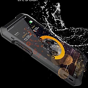 abordables Coques d'iPhone-Coque Pour Apple iPhone X / iPhone 8 Eau / saleté+D4731 / antichoc Coque Intégrale Armure Dur Métal pour iPhone XS / iPhone XR / iPhone XS Max