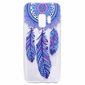 voordelige Galaxy S7 Hoesjes / covers-hoesje Voor Samsung Galaxy S9 / S9 Plus / S8 Plus Transparant / Patroon Achterkant Dromenvanger Zacht TPU
