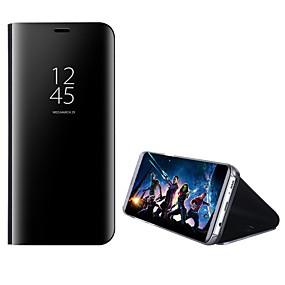 ieftine Cumpărături în Grup-Maska Pentru Samsung Galaxy A8 Plus 2018 / A8 2018 Cu Stand / Oglindă / Întoarce Carcasă Telefon Mată Greu PC pentru A5(2018) / A7(2018) / A3 (2017)