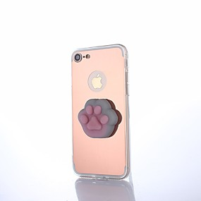olcso iPhone tokok-Case Kompatibilitás Apple iPhone X / iPhone 8 Tükör / DIY / pépes Fekete tok Állat / Rajzfilm Kemény Akril mert iPhone X / iPhone 8 Plus / iPhone 8