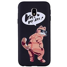 voordelige Galaxy J3 Hoesjes / covers-hoesje Voor Samsung Galaxy J7 (2017) / J5 (2017) / J5 (2016) Reliëfopdruk / Patroon Achterkant Kat Zacht TPU