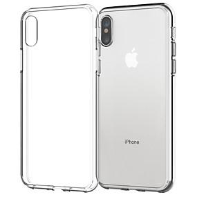 abordables Coques d'iPhone-Coque Pour Apple iPhone X / iPhone 8 Plus Transparente Coque Couleur Pleine Flexible TPU pour iPhone X / iPhone 8 Plus / iPhone 8