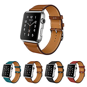 billige Apple Watch Series 3/2/1-Urrem for Apple Watch Series 4/3/2/1 Apple Læderrem Ægte læder Håndledsrem