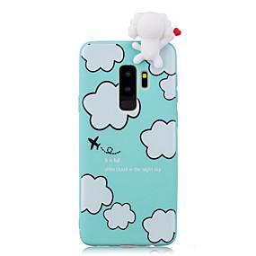 voordelige Galaxy S7 Hoesjes / covers-hoesje Voor Samsung Galaxy S9 / S9 Plus / S8 Plus Schokbestendig / Patroon / DHZ Achterkant Cartoon / 3D Cartoon Zacht TPU