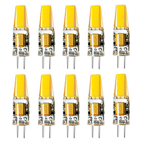 abordables Luces LED de Doble Pin-brelong 10 pcs g4 3w 1led luz de maíz regulable ac12v blanco / blanco cálido