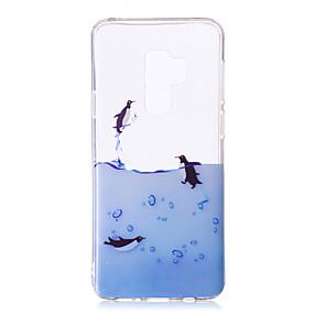 halpa Galaxy S -sarjan kotelot / kuoret-Etui Käyttötarkoitus Samsung Galaxy S9 Plus / S9 IMD / Kuvio / läpinäkyvä Body Takakuori Eläin Pehmeä TPU varten S9 / S9 Plus / S8 Plus