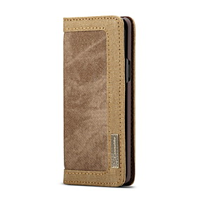 halpa Galaxy S -sarjan kotelot / kuoret-Etui Käyttötarkoitus Samsung Galaxy S9 Plus Lomapkko / Korttikotelo / Flip Suojakuori Yhtenäinen Kova tekstiili varten S9 Plus