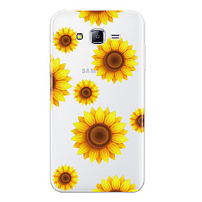 voordelige Galaxy J5 Hoesjes / covers-hoesje Voor Samsung Galaxy J7 (2016) / J7 / J5 (2016) Patroon Achterkant Bloem Zacht TPU