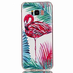 voordelige Galaxy S7 Edge Hoesjes / covers-hoesje Voor Samsung Galaxy S8 Plus / S8 / S7 edge Patroon Achterkant Flamingo Zacht TPU
