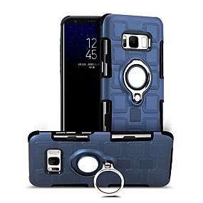 halpa Galaxy S -sarjan kotelot / kuoret-Etui Käyttötarkoitus Samsung Galaxy S8 Iskunkestävä / Sormuksen pidike / 360° kierto Takakuori Yhtenäinen Kova PC varten S8