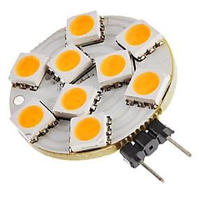 Χαμηλού Κόστους Φωτιστικά LED δυο ακίδων-SENCART 1pc 1.5 W LED Φώτα με 2 pin 270 lm G4 T 9 LED χάντρες SMD 5050 Διακοσμητικό Θερμό Λευκό 12 V
